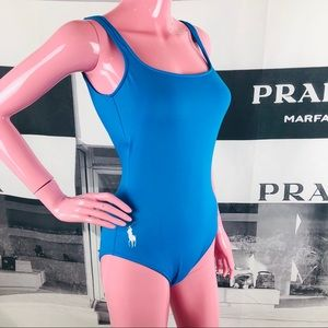 Ralph Lauren Blue One Piece Swimsuit XS